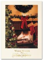 H2602 Glowing Winter Hearth Holiday Card