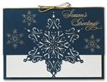H2605 - N2605 Star of Snow Laser Cut Holiday Cards 7 7/8 x 5 5/8