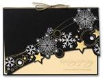 H2613 Starry Winter Night Holiday Cards 7 7/8 x 5 5/8