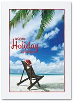 H2657 White Sandy Christmas Holiday Card