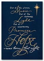 H55953 Religious Holiday Cards Spiritual Hope