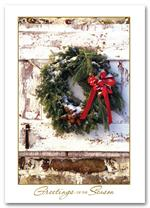 H58844 Holiday Cards Rustic Wreath