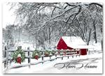 H59408 - N9408 Cozy In The Country Holiday Cards 7 7/8 x 5 5/8