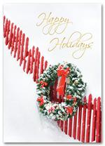 HH1638 Charming Holiday Wreath Card