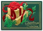 HH1666 Golden Evergreen Holiday Card