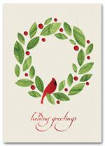 HH1696 Peaceful Cardinal Recycled Paper Holiday Cards 5 5/8 x 7 7/8
