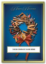 HML1507 Tool Wreath Contractor/Builder Holiday Card