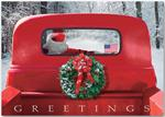 HP13303 - N1330 4 Wheeled Sleigh Patriotic Christmas Cards 7 7/8 x 5 5/8