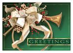 HP14303 Joyous Trumpet Holiday Cards 7 7/8 x 5 5/8