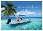 HP15309 - N1539 Seaside Santa Holiday Cards 7 7/8 x 5 5/8