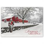 HP16307 - N6307 Rustic Ranch Holiday Cards 7 7/8 x 5 5/8