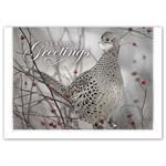 HP16308 - N6308 Feathered Friend Holiday Cards 7 7/8 x 5 5/8