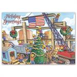 HP16322 - N6322 Christmas Crane Contractor & Builder Holiday Cards 7 7/8 x 5 5/8