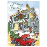 HP16325 - N6325 Cheerful Contractors Holiday Cards 5 5/8 x 7 7/8