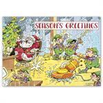 HP16328 - N6328 Clean Up Crew Holiday Cards 7 7/8 x 5 5/8
