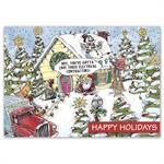 HP16330 - N6330 Electric Wishes Contractor & Builder Holiday Cards 7 7/8 x 5 5/8