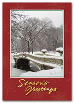 HPC1202 Snowy Bridge Holiday Postcard