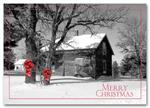 HPC1203 Barnyard Bows Holiday Postcard