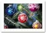 HS09014 Discount Christmas Cards - Colorful Ornaments