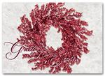 HS09038 Holiday Cards Ruby Red Wreath