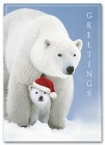 HS1301 Santa Cub Holiday Card