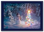 HS1332 - N1332 Snowy Decorator Christmas Cards 7 7/8 x 5 5/8