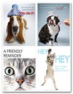 LR3255 Veterinarian Reminder Card Dogs & Cats Laser Postcard 8 1/2 x 11
