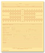 MD70C Dental Exam Record Numbered Teeth System C Folder Style 5 X 8
