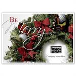 MT15009 Be Merry Holiday Logo Cards 7 7/8 x 5 5/8