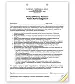 PRV1 3 Part Notice of Privacy Practices HIPAA Acknowledgment 8 1/2 x 11