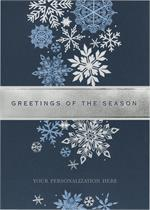 H14610 - N4610 Fall of Flakes Holiday Cards 5 5/8 x 7 7/8