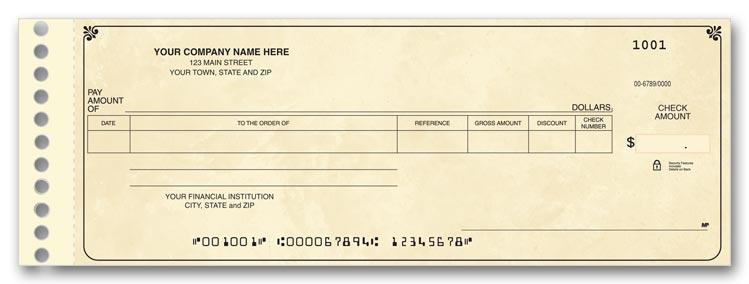 112011n expense ledger checks 8 3 4 x 3 3 10