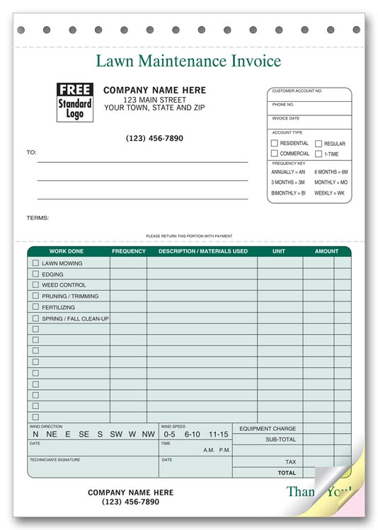 maintenance invoice