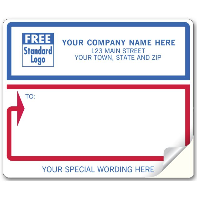 12688 mailing labels laser inkjet white with blue and red borders 4