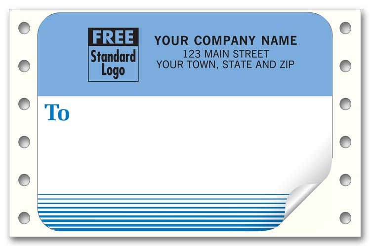 1290 mailing labels continuous white with blue address area 3 7 8 x