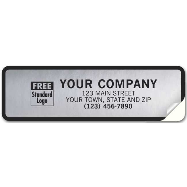 357 Tuff Shield Weatherproof Labels Poly With Black Border 6