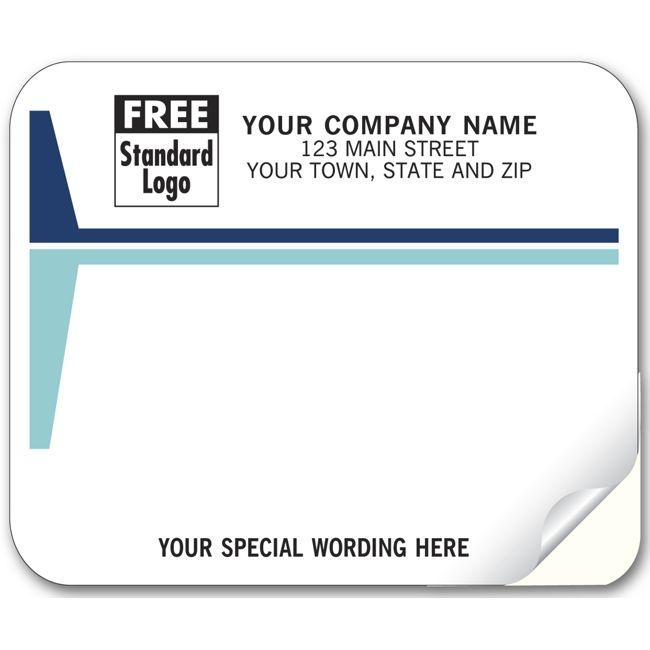 3797 mailing labels laser inkjet white w blue stripes 4 x 3 1 3