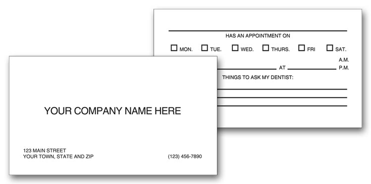 5808 two sided appointment business cards imprinted 3 12 x 2 colourmoves