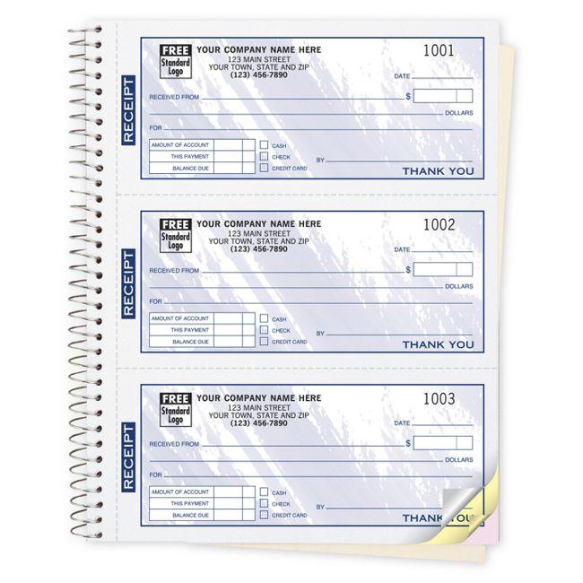 693t cash receipt books colors design 3 to page 6 3 4 x 8 1 2