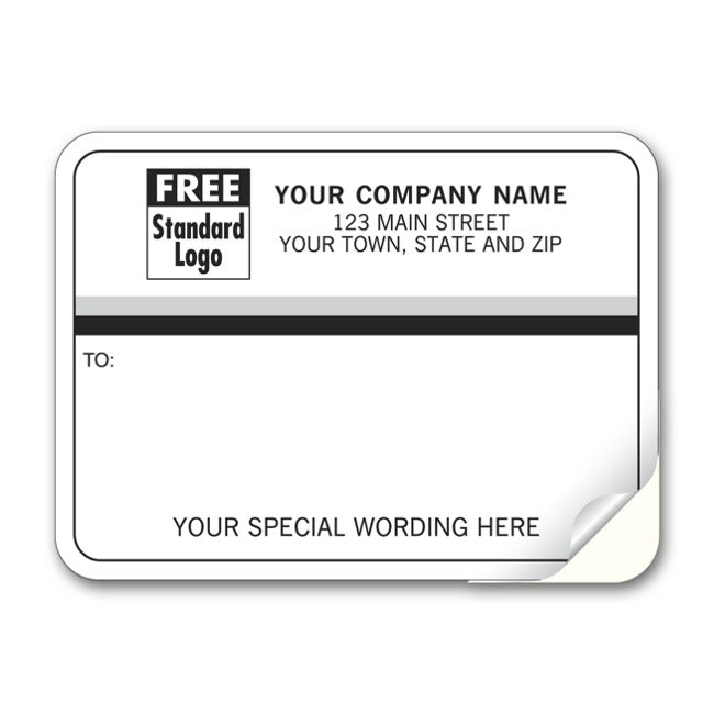 70 mailing labels padded white with black gray stripes 3 7 8 x 2 7 8