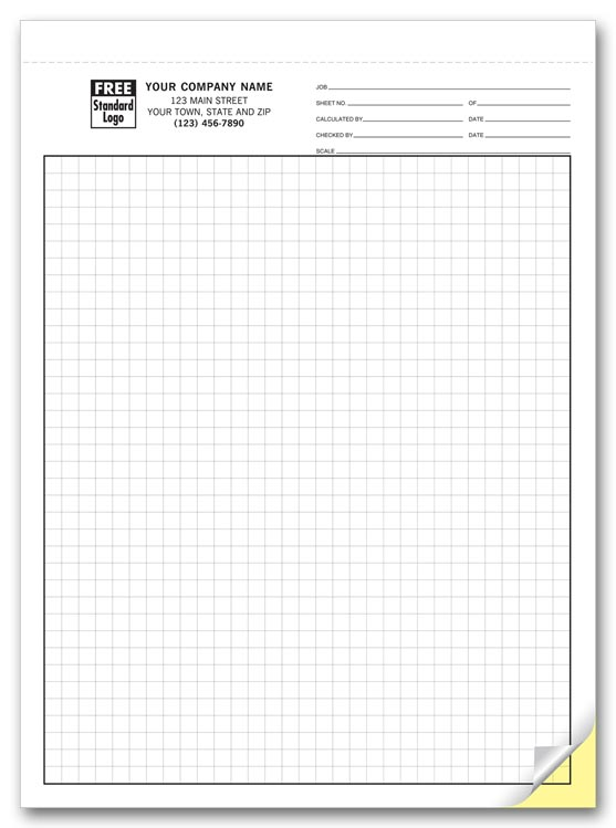 7205 graph paper 1 4 multi part 8 1 2 x 11