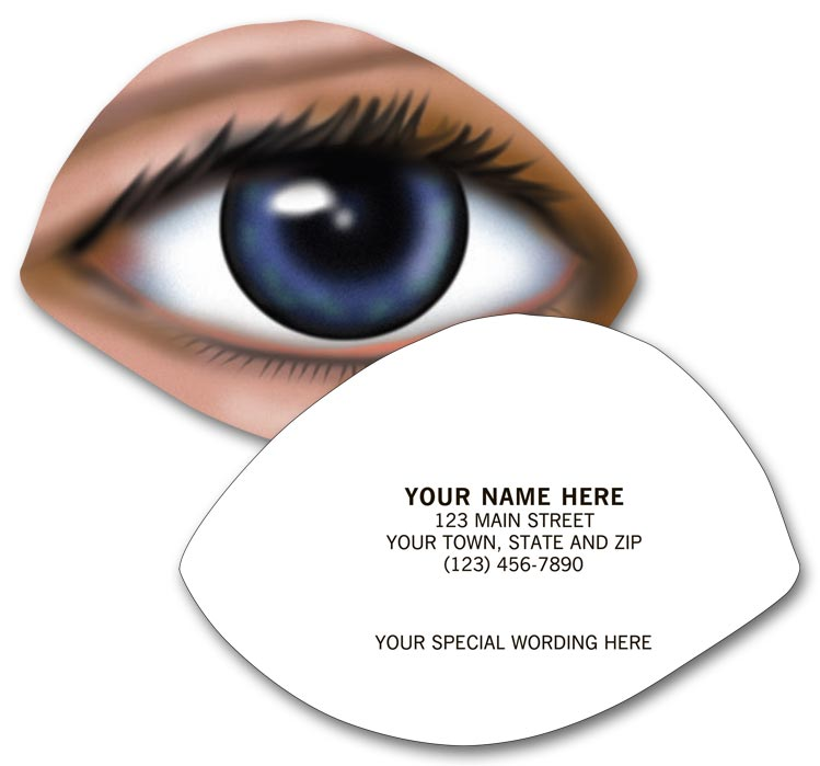 9194 Optometry Business Cards Die Cut Eye Design 3 1/2 X 2 1/2\