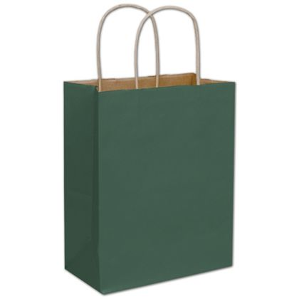 250 rainforest green color on kraft paper bags shoppers 5 1 4 x 3 1