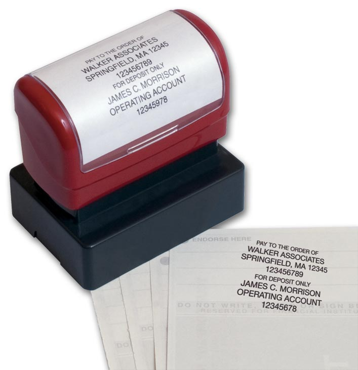 D2023 Endorsement Stamp Pre Inked Popular Layout A