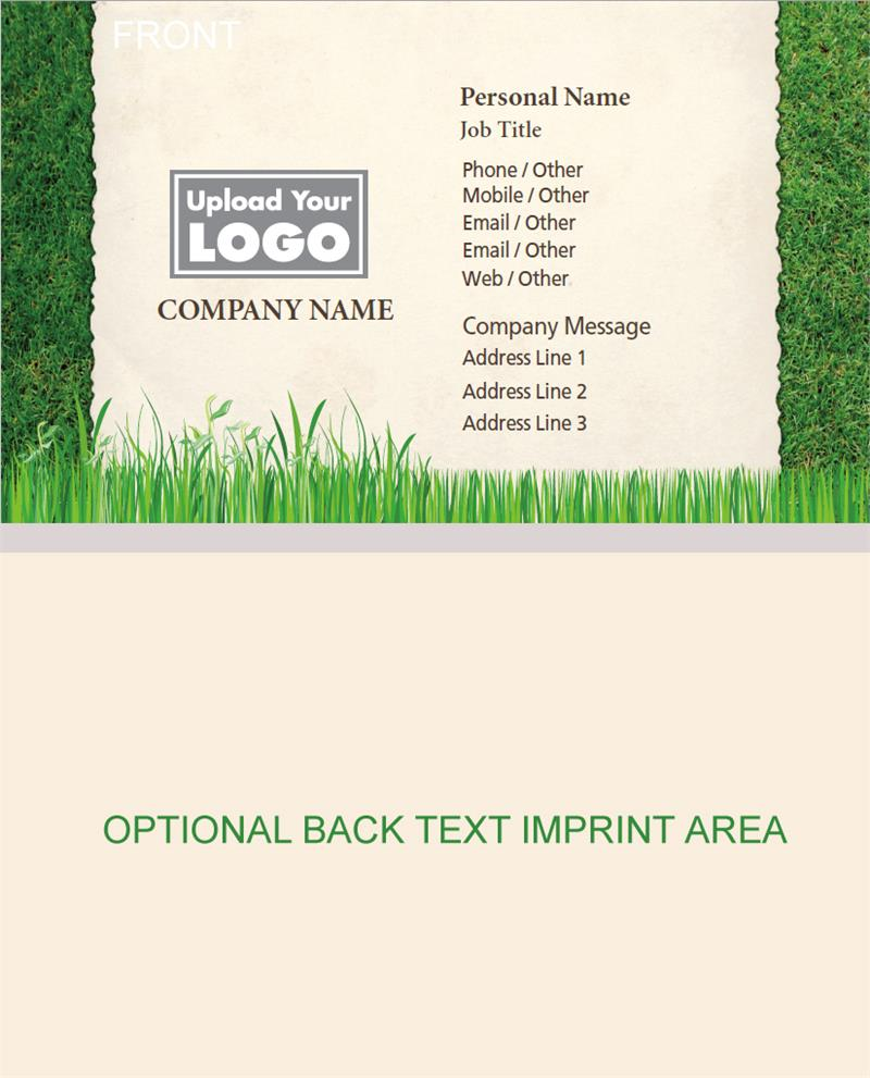 Full Color Lawn and Landscaping Business Cards