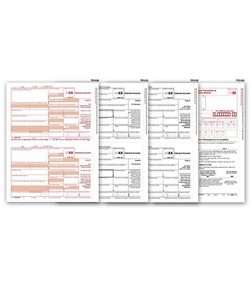 Laser 1099 INT Income Set /& Envelope Kit 3 Part