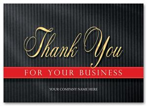 3ED001 Elegant Appreciation Thank You Cards 7 7/8 x 5 5/8""