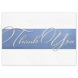 5ED110 Sterling Gratitude Thank You Cards 7 7/8 x 5 5/8
