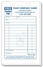 1 Large Pharmacy Sales Slips 3 3/8 x 5 1/2