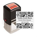 104007 Snowflakes Design Stamp - Self-Inking